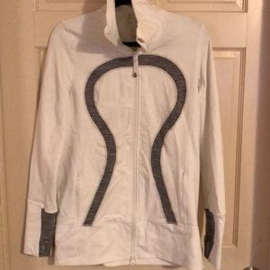Lululemon White Zip Up